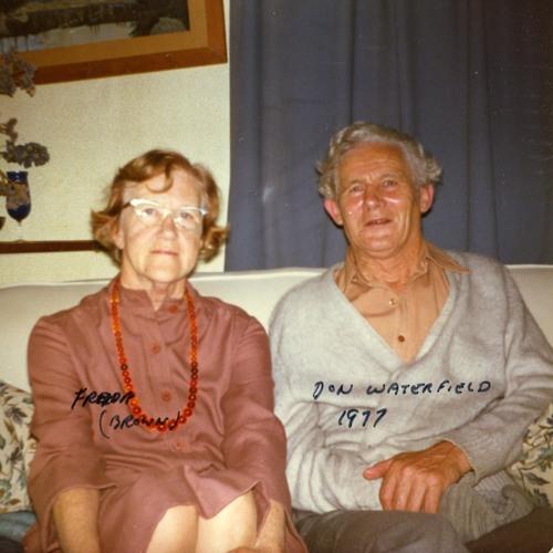 Don Waterfield & Freda Waterfield (Brown) 1977