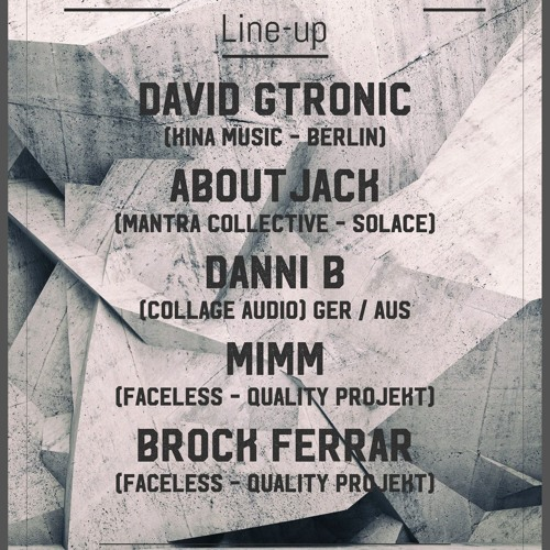 Danni B Live: Faceless & Quality Projekt Warehouse Party, Melb