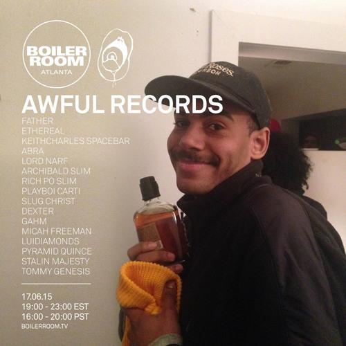 Awful Records Boiler Room Atlanta Live Show