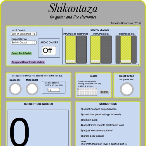 Shikantaza - for guitar and live electronics