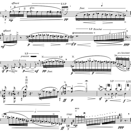 Fugitive Lines II (2013) for Cello