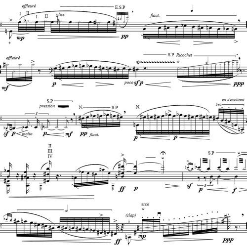 Fugitive Lines II - Solo Cello (2013)