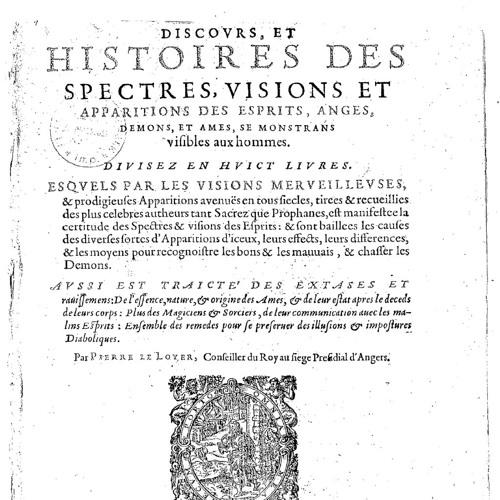 Histoires Des Spectres - Excerpt