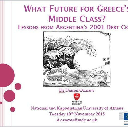 What Future for Greece's Middle Class?: Lessons from Argentina's 2001 Debt Crisis