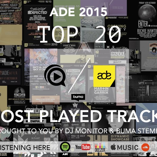 OFFICIAL ADE 2015 MOST PLAYED TRACKS