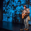 Hard Travelin' With Woody a solo act featuring the works of Woody Guthrie.