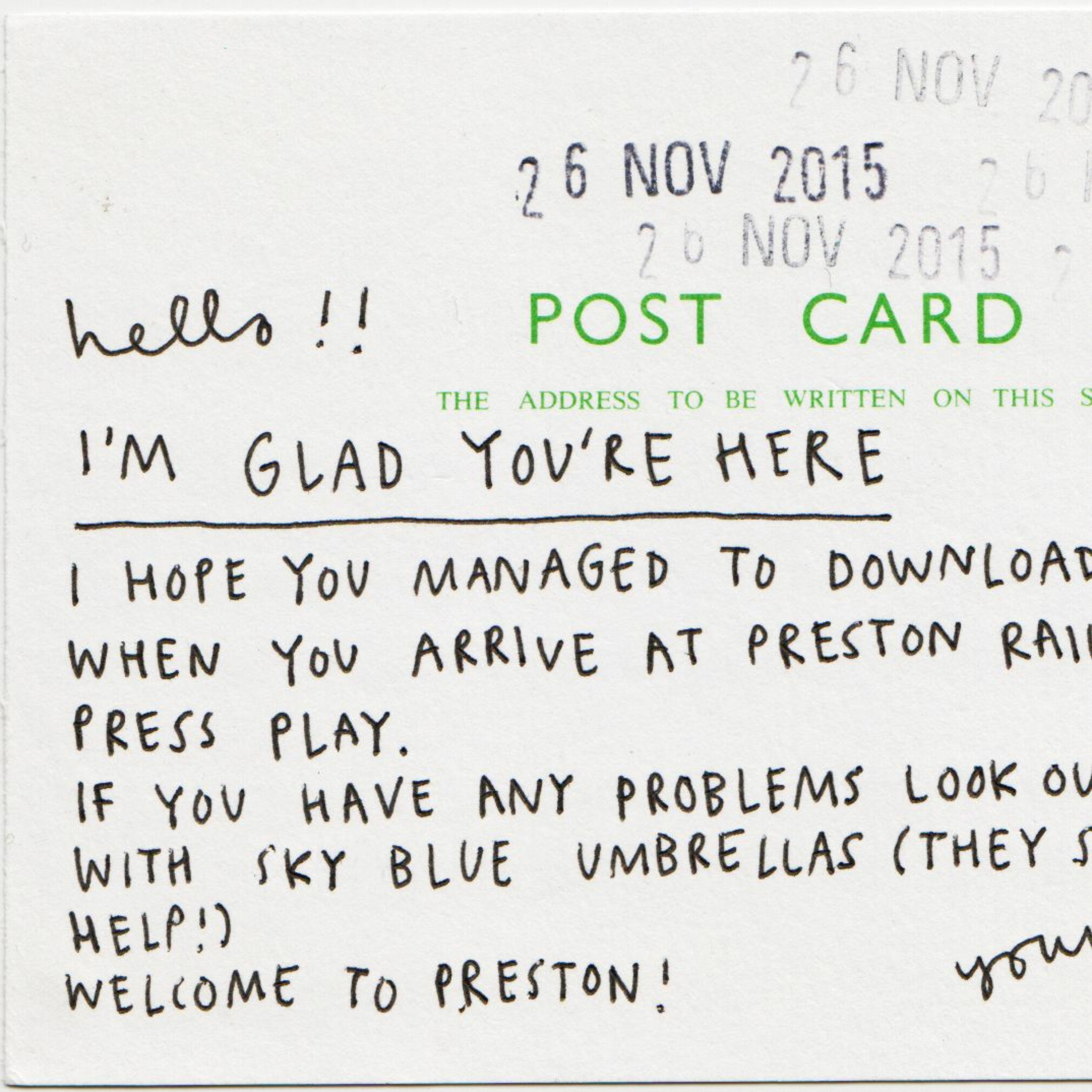 I'm Glad You're Here by Lowri Evans