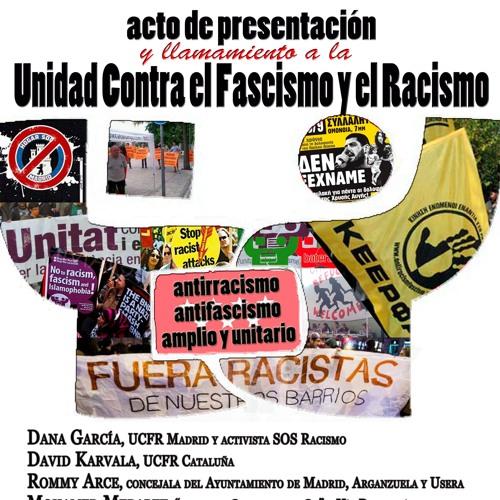 Presentación de «Unidad contra el Fascismo y el Racismo»