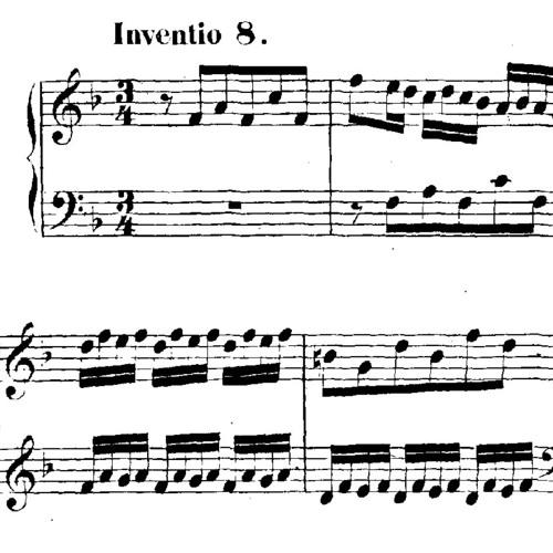 Invention No. 8 JS Bach (BWV 779)