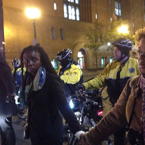 Hundreds protest in Chicago the death Laquan McDonald at the hands of police