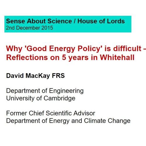 Prof David MacKay House Of Lords 2 - 12 - 15 - Talk