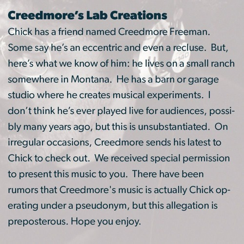 Creedmore's Lab Creations #1