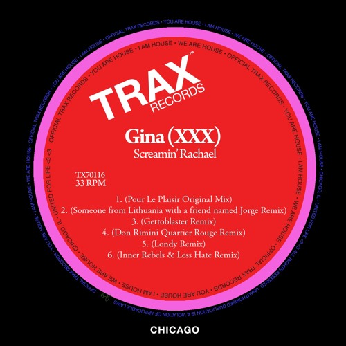 Gina (XXX)[Original Mix]{FREE DOWNLOAD} by TRAX Records
