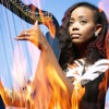 Burn - - Ellie Goulding ( Harp Instrumental Cover) Lyrika Holmes