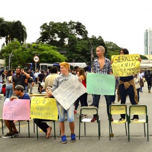 How students in Sao Paulo struck back against school closings.