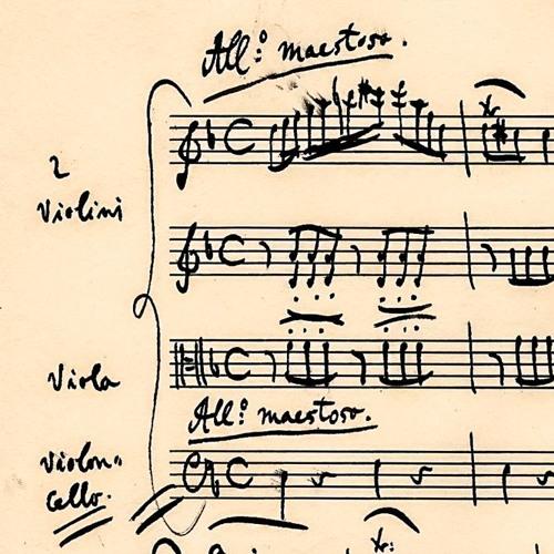 String Quartet in D minor: Menuetto