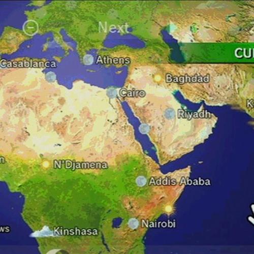 Wii Forecast Channel - Globe - Location (Night)