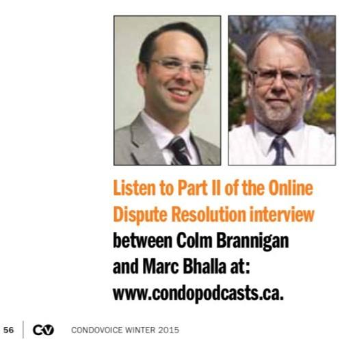 Colm Brannigan on ODR, Part 2 of 2 | Winter 2015