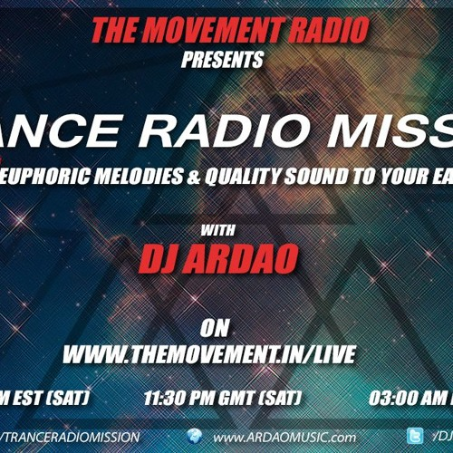 Dj ArDao - Episode 166 Of Trance Radio Mission Guest Mix By Dj R3volution