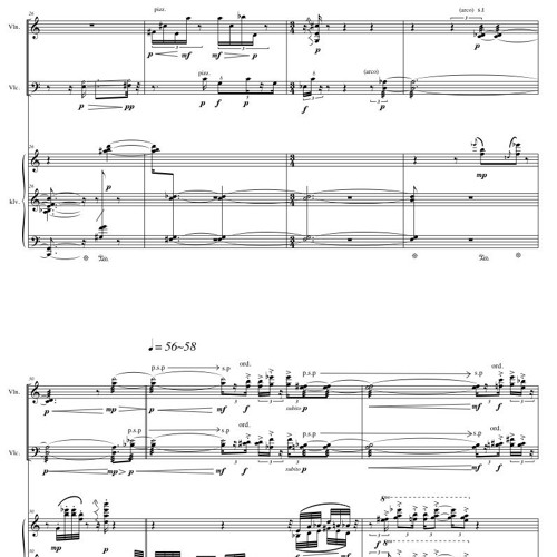 <Tics> for Piano Trio(2011)
