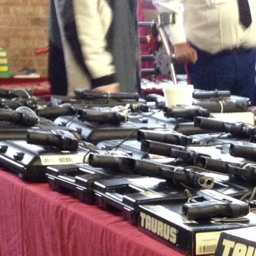 At Indiana gun show, some welcome Obama's stricter background checks