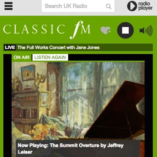 ClassicFM Radio Broadcast: The Summit Symphony overture