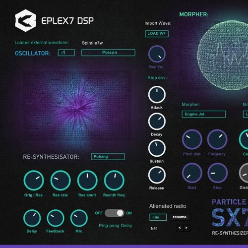Eplex7 DSP Particle Collider SX7 Re-Synthesizer Demo 2
