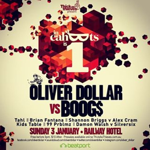 Oliver Dollar Vs Boog$ - Live @ In Cahoots 1st Birthday [03.01.2016]