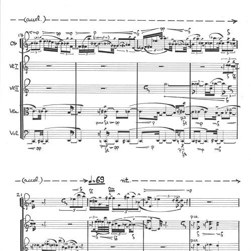 Nostalgia (Hommage à Andrej Tarkowskij)-- excerpt -- for oboe and stringquartet