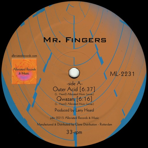 Mr. Fingers - Mr. Fingers EP 2016 - Alleviated Records ML2231