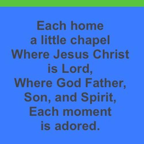 12 Each Home A Little Chapel (Reprise)