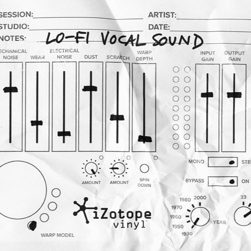 Izotope Vinyl Before And After Example Lo Fi Vocal
