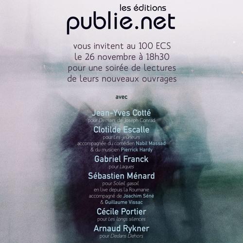 Lectures du 26 novembre : Lecture des Jeûneurs, par Clotilde Escalle (avec N. Massad et P. Hardy)