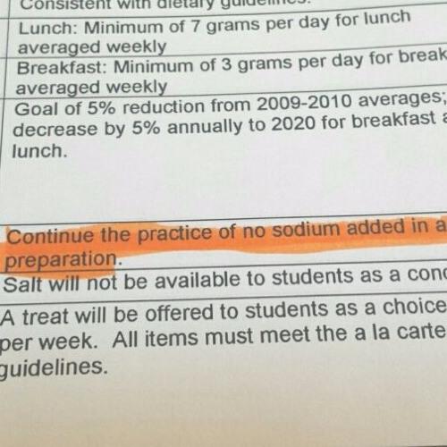 Are School Meals Too Healthy?