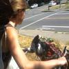 Beautiful Girl On An Ugly Bike