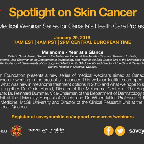 Save Your Skin Foundation Webinar: Melanoma - Year At A Glance
