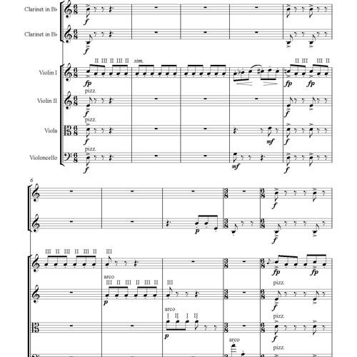 Spirits - Mvt.2: Champage - 2 Clarinets and String Quartet