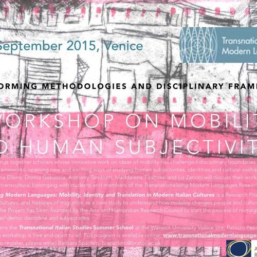 Shaul Bassi - Workshop on mobility