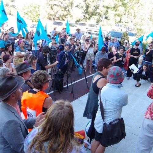 Natalie Banks on the #ProtectProtestWA rally