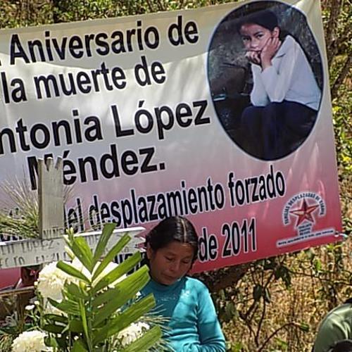 NotiFrayba: Antonia, niña tzeltal, a un año de su muerte en desplazamiento forzado
