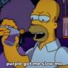 purple got me slow-mo
