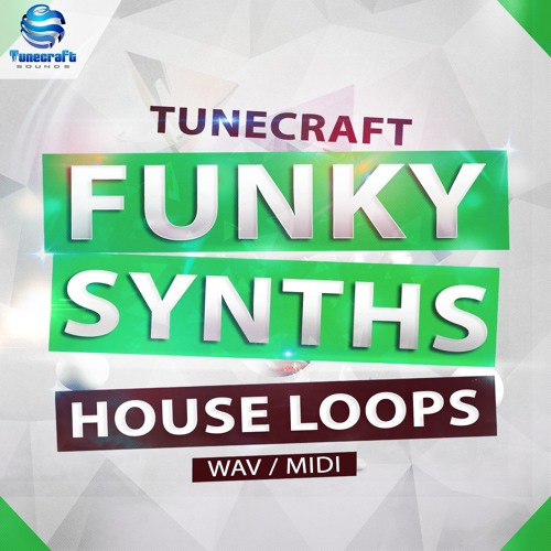 Tunecraft Funky Synths House // 249 audio loops + midi files