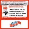 CHAPTER- ★We Coach You On How To Prepare To Partner With An Sales Affiliate Program