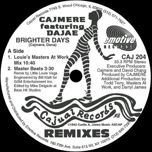 Cajmere Ft. Dajae - Brighter Days (Underground Goodies Mix)