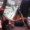 Two Men Playing Along The Ganga River, Rishikesh