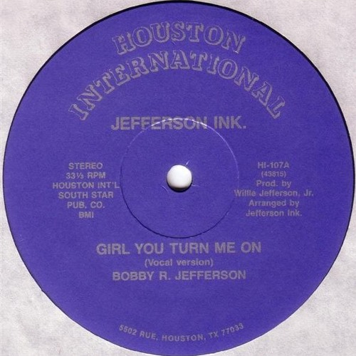 Jefferson Ink - Girl You Turn Me On