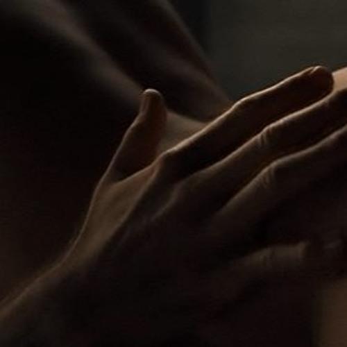 Mixed race man touching sexy woman