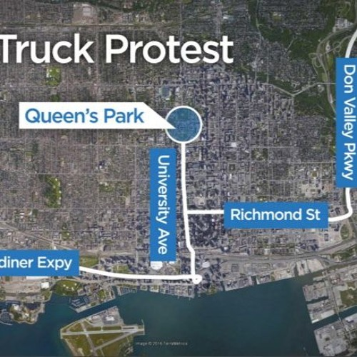 1,000-strong Tow Truck Protest - Tuesday, April 5th 2016