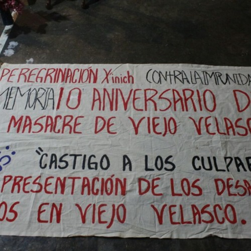 Caminamos con los desplazados de Viejo Velasco, no queremos más despojo