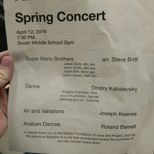South Middle School 7th Grade Spring Concert